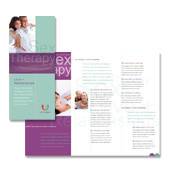 Sex Therapy Tri Fold Brochure Template