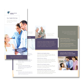 Medical Services Tri Fold Brochure Template