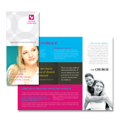 Church Outreach Tri Fold Brochure Template