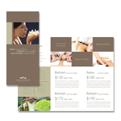 Wellness Spa Resort Tri Fold Brochure Template