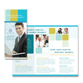 Software Developers Tri Fold Brochure Template
