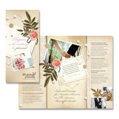 Wedding Planner Tri Fold Brochure Template