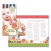 Babysitting Tri Fold Brochure Template