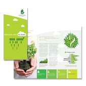 Recycling Tri Fold Brochure Template