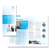 Corporate Finance Tri Fold Brochure Template