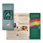 Tutoring Center Tri Fold Brochure Template