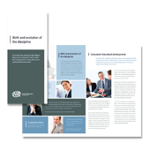 HR Management Tri Fold Brochure Template