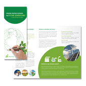 Environmental Protection Tri Fold Brochure Template