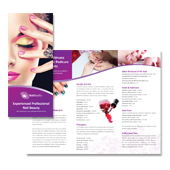 Nail Beauty Salon Tri Fold Brochure Template