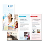 Cleaning & Janitorial Services Tri Fold Brochure Template