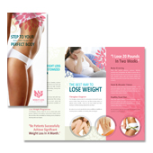 Weight Loss Center Tri Fold Brochure Template