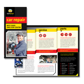 Auto Repair Services Tri Fold Brochure Template