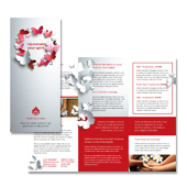 Beauty Spa Tri Fold Brochure Template