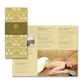 Natural Day Spa & Massage Tri Fold Brochure Template
