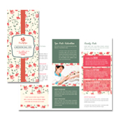 Nail Spa Center Tri Fold Brochure Template