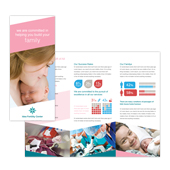Fertility Hospital Tri Fold Brochure Template