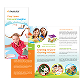 Child Education Center Tri Fold Brochure Template